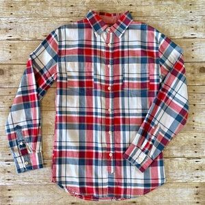 Men's Mossimo plaid long sleeve button up shirt